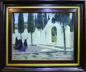Calvario de Sagunto, Santiago Rusiñol, (España), óleo sobre tela, 114x149 cm