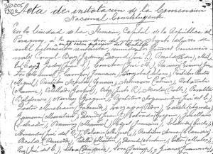 Acta manuscrita de la Convención Nacional Constituyente (1870). Archivo digital, gentileza de la Biblioteca Nacional del Paraguay, copia del autor